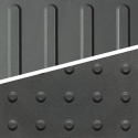 "EON Rubber Resilient Tactile - Bars & Domes 12"" X 12"""