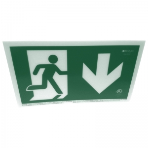 Ecoglo Photoluminescent Exit Sign (50 Foot Rated Visibility)