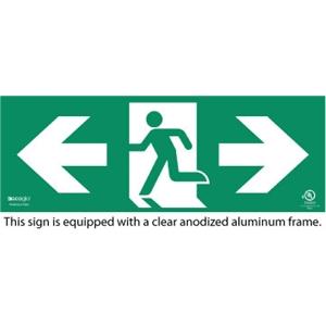 Ecoglo Photoluminescent Exit Sign (Part No : RM-BA50-CA)
