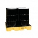 Spill Containment 4 Drum  Low Profile Spill Pallet