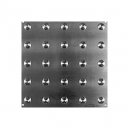 """Advantage One Plate Plates with Domes- Cross Hatch Non Polished SS 12"""" X 12"""""""
