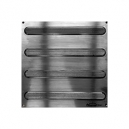 """ADVANTAGE ONE PLATE WITH BARS- LINEAR GROOVES NON POLISHED SS 12"""" X 12"""""""