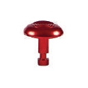 Advantage One Individual Domes - Notched - Concentric Rings - Anodized Red - Aluminium 22mm