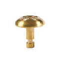 Advantage One Individual Domes - Notched - Concentric Rings - Non Polished - Brass 22mm