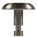Advantage One Individual Domes - Notched - Cross Hatch - Non Polished - SS 22mm