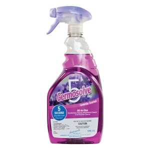 New Germosolve5 Disinfectant Cleaner Lavender Scent 946ml Spray Bottle - Priced 12/Case