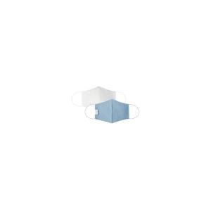 Cloth Face Mask, Reusable/Washable, 2-Layer Contour, Blue, Large, 10/Bag