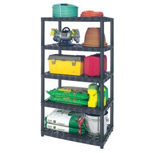 "Shelving - Plastic 18x36x71"" 5 Shelf Unit 180 lbs./shelf"