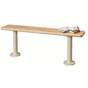 """Locker Bench - Pedestal 72"""" Hardwood"""