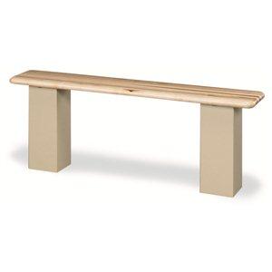 """Locker Bench-Grey Pedestal Box- 48"""" Hardwood"""