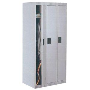 """Locker - Single Tier - 12x18x72"""" 3 Wide Grey"""