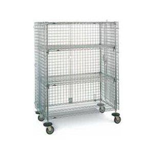 "Security Cart - Chrome 24 x 36"" Shelf  x 68"" H"