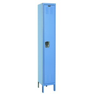 "Employee Locker - 12x18x72"" Sgl Tr/1 Wide Blue"