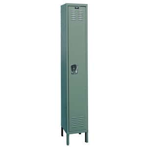 "Employee Locker - 12x18x72"" Sgl Tr/1 Wide Grey"