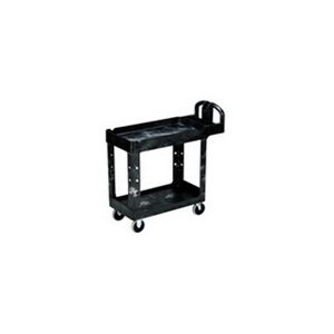 "Cart - Utility 16 x 30"" 2 Shelf w/5"" Casters-Black"