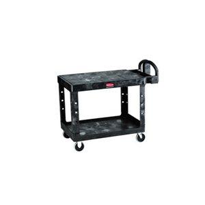 "Cart - Utility Flat Shelf 26x36"" 2 Shelf Black"