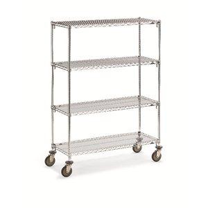 "Wire 4 Shelf Super Adj.Truck 24x36x68"""