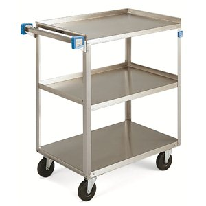 "Cart - Stainless Steel 24x15"" 3 Shelf 300 lbs. Capacity"
