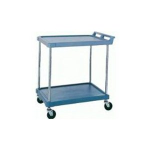"Utility Cart-Polymer 18 x 28"" 2 Shelf Blue"