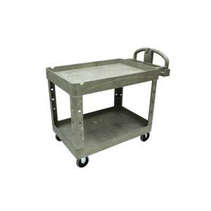 "Utility Cart-Polymer 18 x 28"" 2 Shelf Grey"