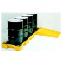 Spill Containment 4 Drum In-Line Platform