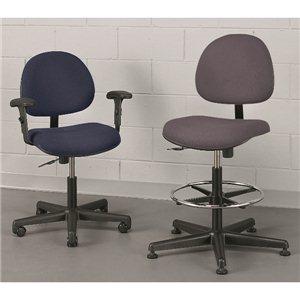 """Chair- Value-Line 17-22""""  Carpet Casters- Blue"""