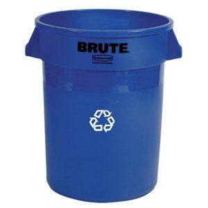 BRUTE Round RECYCLE 32 Gallon -Blue