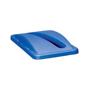 Slim Jim-RECYCLE-Paper Slot-Lid  Blue for 23 Gallon