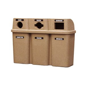 Bullseye TRIO Recycling Station - Grey