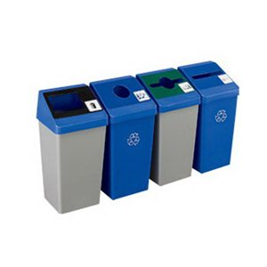 Receptacle-Smart Sort Base 22 Gal-Blue w/Mobius