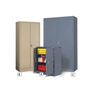 """Storage Cabinet- Economy 24x36x72""""  KD Grey"""