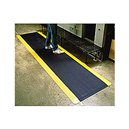 Anti-Fatigue Diamond Plate 3x5'  Mat Black w/Yellow Border