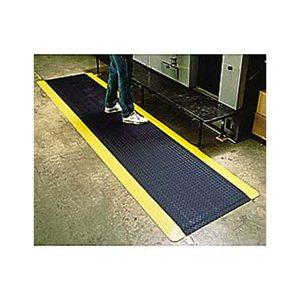 Anti-Fatigue Diamond Plate 3x5'  Mat Black w/Yellow Border