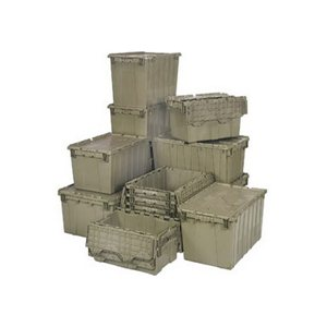 Attached Lid  Container Grey 0.50 Cu Ft