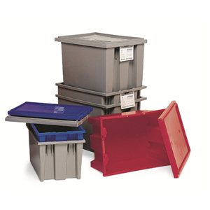 """Tote-Stack & Nest 19-1/2 x 15-1/2 x 10"""" Blue"""