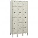 Premium Wardrobe Locker 12x18x72 Six Tr, 3 Wide Parchment