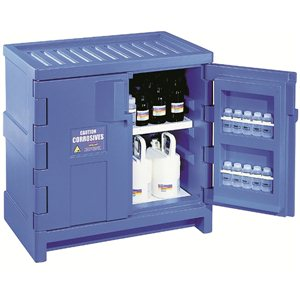 Safety Cabinet -Polyethylene Acid 22 Gallon Blue