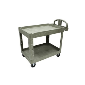 """Cart - Utility 16 x 30"""" 2 Shelf w/5"""" Casters-Beige"""