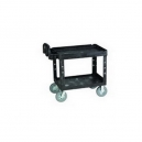 "Cart - Utility 24 x 36"" 2 Shelf w/8"" Pneu.-Black"