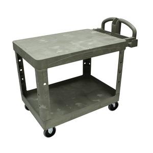 "Cart - Utility Flat Shelf 26x36"" 2 Shelf Beige"