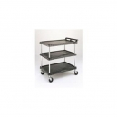 "Utility Cart-Polymer 27 x 39"" 3 Shelf Black"