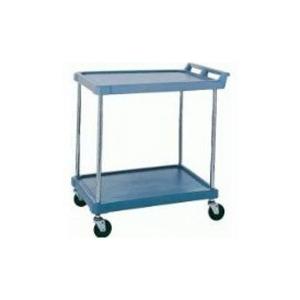 "Utility Cart-Polymer 21 x 33"" 2 Shelf Blue"