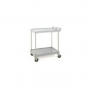 "Utility Cart-Polymer 21 x 33"" 2 Shelf Grey"