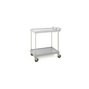 "Utility Cart-Polymer 21 x 33"" 2 Shelf Grey"