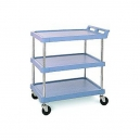 "Utility Cart-Polymer 21 x 33"" 3 Shelf Blue"