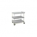 "Utility Cart-Polymer 21 x 33"" 3 Shelf Grey"