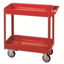 "Cart - 30 x 16 1/8"" 2 Shelf Tray - Steel Posts/Handle"