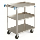 "Cart - Stainless Steel 27x18"" 3 Shelf 300 lbs. Capacity"