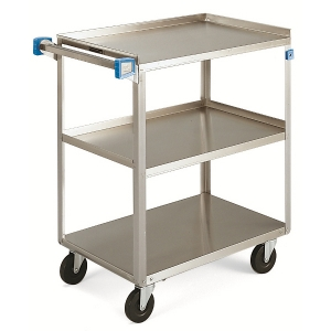 "Cart - Stainless Steel 27x18"" 3 Shelf 300 lbs. Capacity"