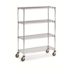 "Wire 4 Shelf Super Adj.Truck 18x36x68"""